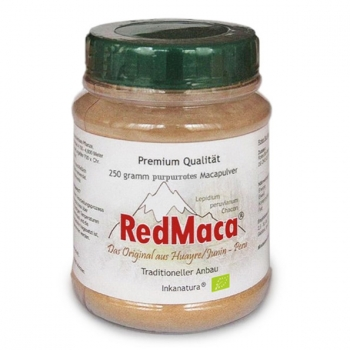 250g RED MACA Pulver (BIO) - Pet Dose